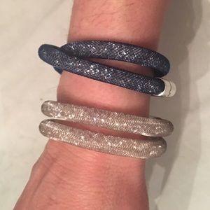 Swarovski blue Crystal Stardust Bracelet / Choker